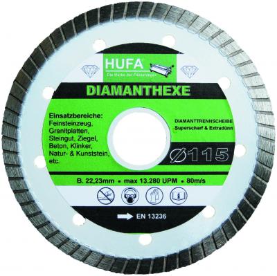 Aktion: 5 x Hufa- Diamanthexe 115 mm als Set