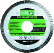 Aktion: 5 x Hufa- Diamanthexe 115 mm als Set