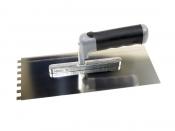 Hufa- Distanzkelle mit 45 Grad gebogener Zahnung, RS mit Softgriff, in versch. Zahnungen